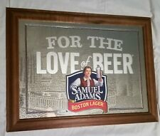 Samuel Adams Boston Lager Beer Bar Pub Man Cave Mirror Sign For The Love Of Beer