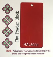 RAL 3020 49/31040 Traffic Red Powder Coating Paint 1lb Bag NEW