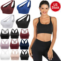 Ladies Seamless Sports Bras High Impact Running Crop Activewear Tops Yoga Bra NY
