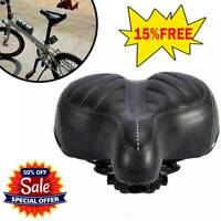US Comfort Wide Big Bum Bike Bicycle Gel Cruiser Extra Pad Soft Seat Saddle