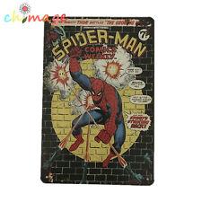 Spider Man Comic Gun Fire Vintage Tin Sign Bar pub home Wall Decor Metal Poster