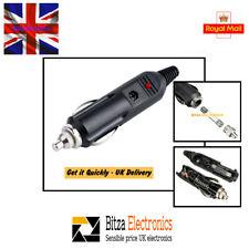12 V Macho LED Coche Encendedor De Cigarrillos Plug Conector con 5 A Fusible vendedor del Reino Unido