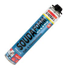 Soudal Soudafoam B1 Pistolenschaum PU Schaum Bauschaum Schwerentflammbar 750 ml