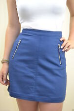 H&M NEW UK 8 LADIES BLUE HIGH WAISTED SKIRT