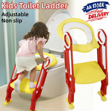 Safety Trainer Toilet Potty Seat Chair Kids Toddler W Ladder Step Training Stool