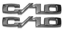 NEW Front Fender C/10 Emblem PAIR / FOR 1969-70 CHEVY TRUCK SUBURBAN / 9611