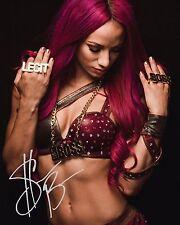 Sasha bancos #3 (WWE) - 10x8 pre Impreso Calidad de laboratorio Foto (firmado) (reimpresión)
