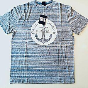 PAUL & SHARK YACHTING Herren Kurzarm T-Shirt Shirt Rundhals Gr. XXL meliert neu