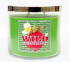1 Bath & Body Works WILD STRAWBERRY 3-Wick Filled Candle 14.5 oz