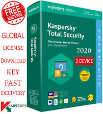 KASPERSKY TOTAL Security 2020, 3 Device, 1 Year - Global Key $16.25