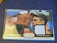 2011  TOPPS UFC ANDERSON SILVA & VICTOR BELFORT FIGHT WORN RELIC CARD