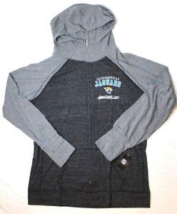 NFL Jacksonville Jaguars Womens Curvy Triblend Color Block Full Zip Hoodie 3X