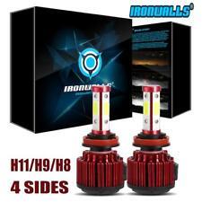 Ironwalls 4-Side H11 H9 H8 1800W LED Headlight Kit Bulb Fog Light 270000LM 6500K