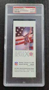 1976 Super Bowl X full unused proof ticket Steelers Cowboys PSA