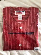 Supreme X Comme Des GARCONS CDG Red Pinstripe Baseball Tee (ss14)