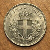 1918 R Italy 20 Centesimi Coin, Vittorio Emanuele III, KM# 58
