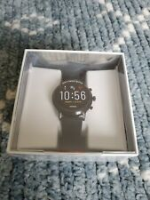 NEW* Fossil - Gen 5 Smartwatch 44mm Stainless Steel - Black with Black Silicone