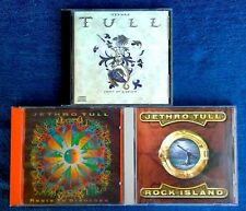 JETHRO TULL - (3) CD'S - CREST OF A KNAVE, ROCK ISLAND, ROOTS TO BRANCHES