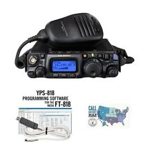 Yaesu FT-818 HF/VHF/UHF All-Mode Transceiver with  RT Systems Programming Kit