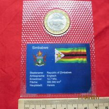 Simbabwe - Zimbabwe 5 Dollars 2002 - Nashorn - UNC
