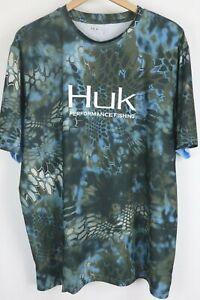 Huk Men's Double Header Vented Short Sleeve T Shirt sz XL Fishing