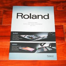 Roland Catalog professional audio video equipment console mixer recorder digital