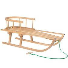 Springos trineo con respaldo 35x90cm de madera de haya + gratis podadoras ❄