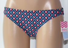 NEW Raisins Navy Multi Lowrider Hipster Bikini Bottom Junior L Large