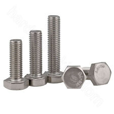 Hex Head Bolts Screws A4 Stainless Steel Hexagon Fully Threaded Screw M3 - M12