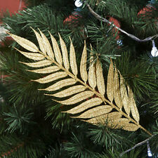 Christmas Xmas Tree Decor Golden Leaves Home Party Decoration Hanging Ornaments