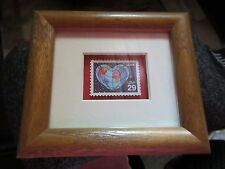 WOODEN MATTED & FRAMED WORLD LOVE STAMP 29 CENTS UNITED STATES POSTAL SERVICE