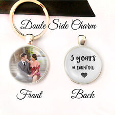 Personalised Double Sided Keyring Years Wedding Anniversary Gifts Husband Wife