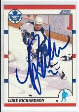 Luke Richardson Signed 1990/91 Score Card #236