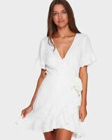 BNWT TIGERLILY LADIES HANA WRAP DRESS (WHITE) RRP $169 SIZE 8 LAST ONE