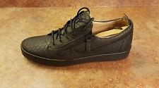 Giuseppe Zanotti Embossed Side Zip Low Top Sneakers Black Mens 10 US 43 Eur $695