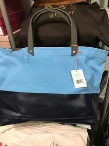 NWT Jack Spade Dipped Industrial Canvas Pacific Blue/Navy