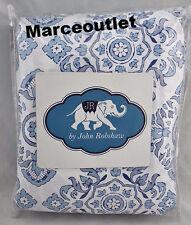 John Robshaw Textiles Mala QUEEN Duvet Cover White / Blue