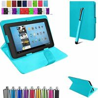 "Universal Flip Stand Leather Case Cover For LENOVO Tab 3/III-7"" 8"" & 10.1""+ Pen"
