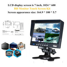 7''LCD Touch Screen 1024x600 HD Monitor Device For Audio Video Radio MP5 Player