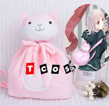 Dangan Ronpa Super Danganronpa 2 Cute Pink Cat Doll Backpack Bag Chiaki Nanami