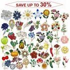 Wholesale Rhinestone Crystal Flower Plant Bridal Bouquet Enamel Brooch Pin Lot
