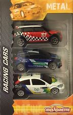 Majorette Racing Cars Set Mini copper wrc 1 : 57 , Ford Fiesta WRC 1 : 58, Focus