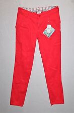 ROXY Designer Coral Side Pocket Slim Leg Pants Size 8 BNWT #TE110