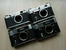 4 pcs Set Russian Soviet FED 2 3 5 5C cameras body only vintage USSR/ AS IS