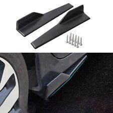 2x Universal Black Car Side Skirt Rocker Splitters Winglet Wings Canard Diffuser
