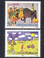 Yugoslavia 1985 Europe/Art/Paintings/Horses/Windmill/Bicycle 2v set (n37262)