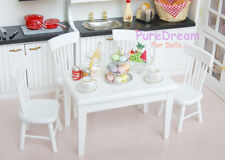 1/12 Dollhouse Dining Room Furniture Set 5pcs Dining Table and 4 Chairs WD016B