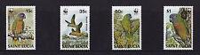 St Lucia - 1987 Amazon Parrots (WWF) - U/M - SG 969-72