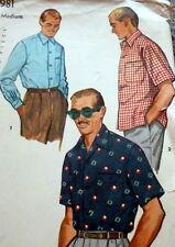 *GREAT VTG 1950s MENS SHIRT Sewing Pattern Size Medium
