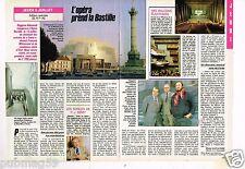 Coupure de presse Clipping 1989 (2 pages) L'Opéra prend la Bastille